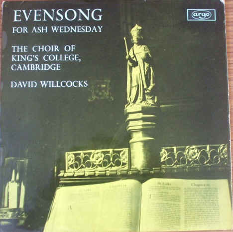 ZRG 5365 EVENSONG FOR ASH WEDNESDAY Vinyl LP TAS